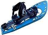 SUPERTRIMMY Schneeschuhe, Light BLAU/GRAU, mit doppelter Fußgelenk-Schnalle mit