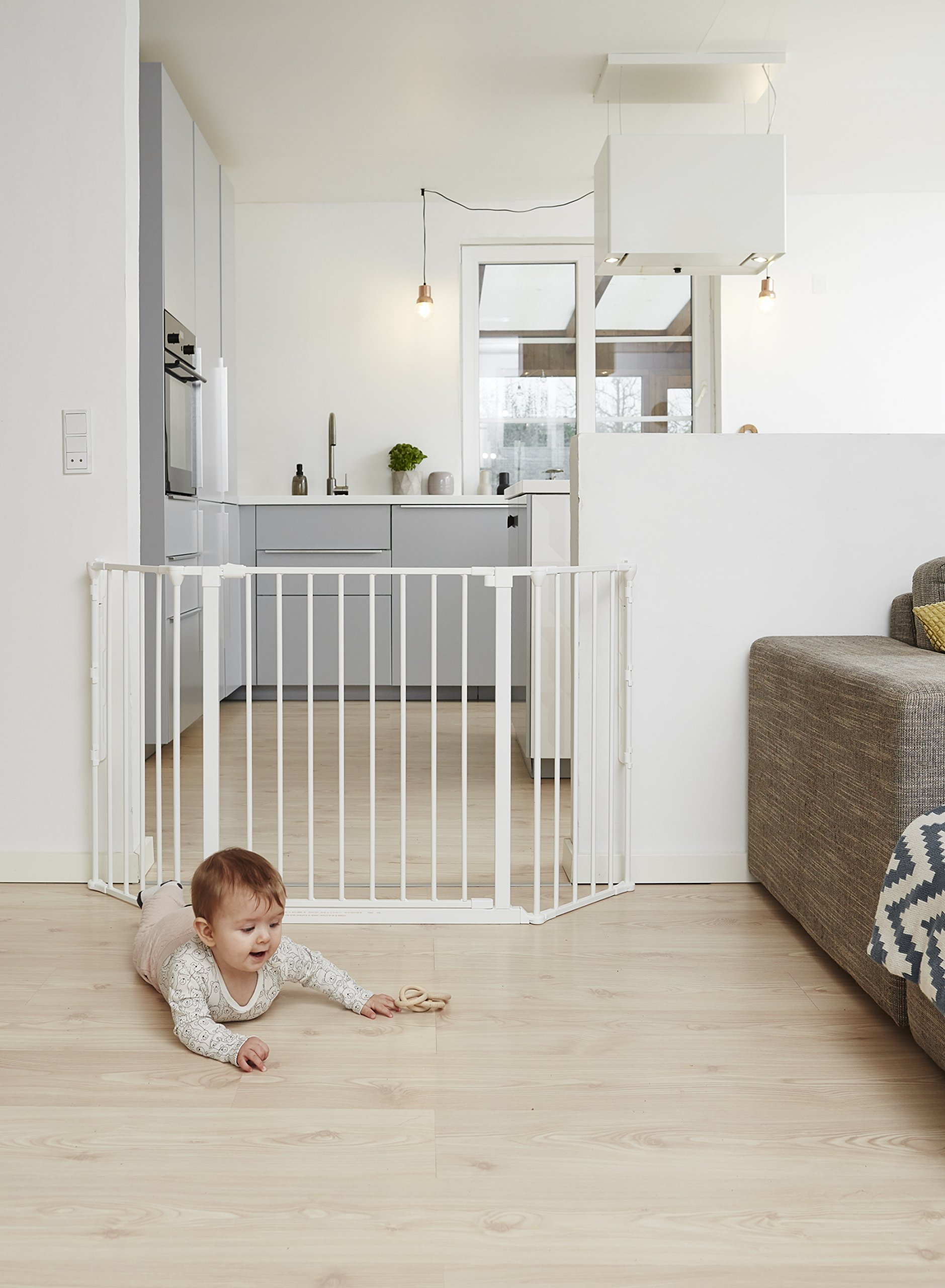 BabyDan Configure (Medium 90-146cm, White)  Only configure system fulfilling newest European safety standard Multi purpose room divider and gate for wider openings Flexible and easy to fit 2