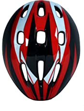 Kamachi Professional Cycling/Skating Adjustable Helmet MV9BHL (Colour: Black/Red/White)