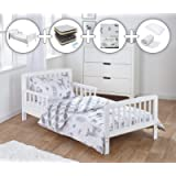 Kinder Valley Complete Deluxe 7 Piece Toddler Bed Bundle with Spring Mattress and Woodland Tales Reversible Bedding Set
