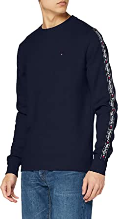 Tommy Hilfiger Men's Track Top Ls HWK Sweatshirt, Desert Sky, X-Large