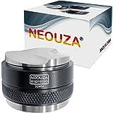 NEOUZA Distributeur de café et presse à café 2 en 1 51 mm - Double tête - Convient pour les portafiltres Delonghi Breville de
