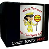 Number One Lollipop Lady Personalised Mug Thank You School Crossing Woman Gift