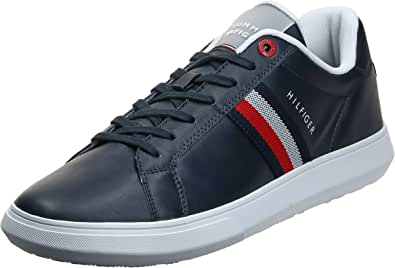Tommy Hilfiger Essential Leather, CUPSOLA in Pelle Essenziale Uomo