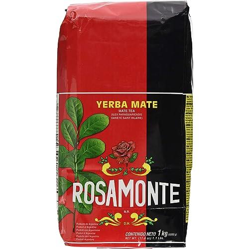 Rosamonte - 1 kg Yerba Mate (con steli) Pack of 1