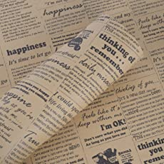 Paper Pep Paper Series Wrapping Paper Newspaper Brown Pack of 20 Sheets, Size:LB(inch)- 30x21