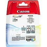 Canon PG-510/CL-511 Cartouche Multipack Noire + Couleur (Multipack plastique Sécurisé)