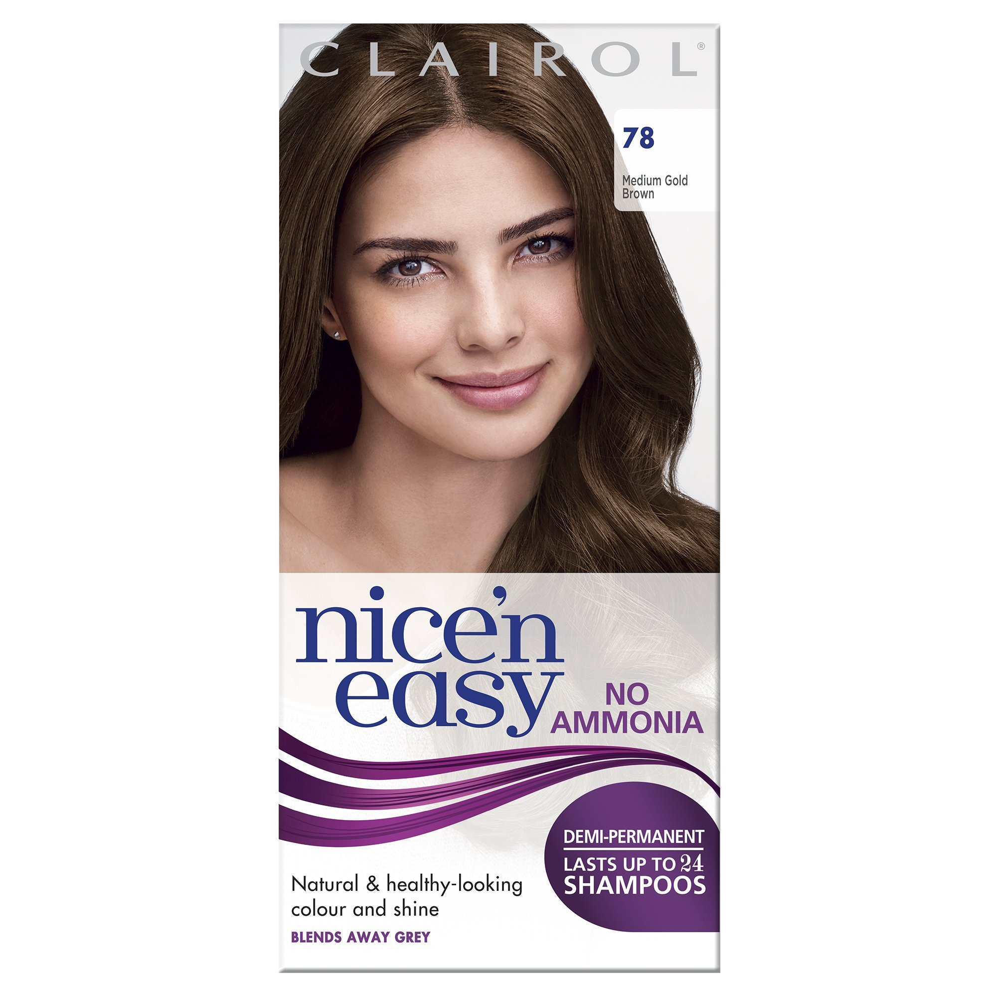 Clairol Nicen Easy Semi Permanent Hair Dye No Ammonia 78 Medium