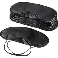 10 Stück Augenmaske Augenblende Decke Schlafmaske Reise Schlafabdeckung mit Nasenkissen, Schwarz