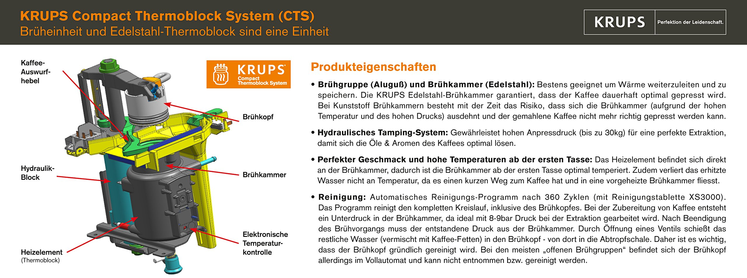 Krups-EA-8000-Kaffee-Vollautomat-Espresseria-Automatic-Dampfdse-schwarz