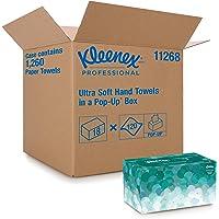 Kleenex 1126 Essuie-mains enchevêtrés Ultra Soft Pop Up, 18 boîtes de 70 feuilles en papier, Couleur : Blanc, U1126800