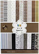 KABEER ART W&M (Brown), Size A5, Craft paper - 20 Designs,40 Sheets