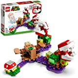 LEGO71382 SuperMarioPiranhaPlantPuzzlingChallenge-Uitbreidingsset,SodaJungleCollectibleModulaireSpeelsetmetSteke