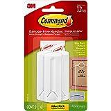 Command 17043 3 x Draad Gesteunde Beeldhangers met Command Strips Waarde Pack-white