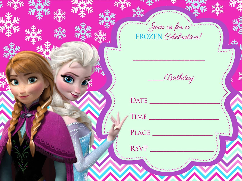 Favorito Frozen Elsa Olaf 12 biglietti d'invito per compleanno, con buste  MS28