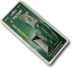 TSTOP 88405 Quality Folding Utility Knife with Additional 5 Blades