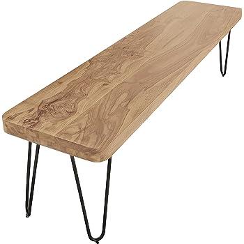 FineBuy Esszimmer Sitzbank Massiv-Holz Sheesham 120 x 45 x 35 cm ...