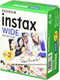 Fujifilm Film - 16385995 - Instax Wide 99 x 62 mm - Compatible Appareil Instax Wide uniquement - Bipack 10 x 2 films