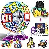 COOLJOY 100 Pezzi di Costruzione di Giocattoli, Magnetiche Blocchi Costruzione con Plastica Lettera e Numero, Giocattolo Educ