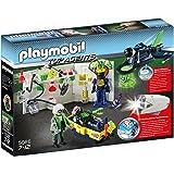 Playmobil - 5086 - Top Agents - Laboratoire du Savant Fou et Jet Espion