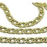 Collana in oro giallo 18 K per uomo, grande e appariscente, 60 cm di lunghezza e 6,5 mm di larghezza
