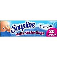 SOUPLINE - Voiles Sèche-Linge Adoucissants Grand Air - Parfument agréablement le Linge - Lingettes à Disposer dans le…