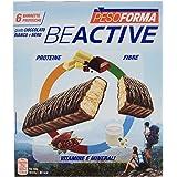 Pesoforma Beactive Barrette Cioccolato Bianco e Nero, Barrette Proteiche per Sport - 6 x 31 g