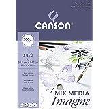 Canson 200005969 Imagine Mix-Media papier, A1, Wit