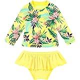Alvivi Traje de Baño de Proteccion Solar para Bebé Niña Bañadores Manga Larga Bikinis Niñas Ropa de Natacion Swimsuit