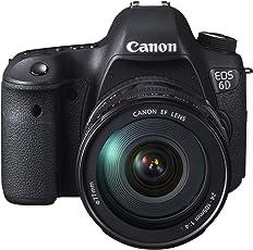 Canon EOS 6D SLR-Digitalkamera (20,2 Megapixel CMOS-Sensor, Live View, Full HD, WiFi, GPS, DIGIC 5+) Kit inkl. EF 24-105mm schwarz