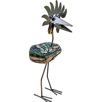 vogel garten figuren natur stein metall gartendeko deko tier eisen garten. Black Bedroom Furniture Sets. Home Design Ideas