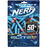 Nerf Elite 2.0 50-dart påfyllningspaket - inkluderar 50 officiella Nerf Elite 2.0 Darts, kompatibel med alla Nerf Elite Blast