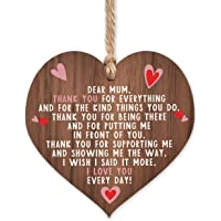 A present for mum | I love you mum present gifts | best mum ever in the world | handmade plaque presents | heart wooden…