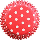 Red Polka Dot Mini Baking Cup Cake Cases Pack 100