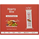 Hearty Bite Superfood Energy Bars - Box of 10 - No Added Sugar - 100% Natural - Delicious Healthy Diet Snack & Nutrition Cere