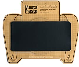 MASTAPLASTA Peel and Stick Repair Patch for Holes, Rips and Stains in Car Seats, Sofas, Bags and Leather Jackets (Black, 8/4-inch)