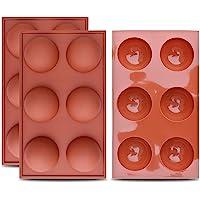 homEdge Halbkugel-Silikonform mit 6 Hohlräumen, 3 Packungen Backform zur Herstellung von Schokolade, Kuchen, Gelee, Dome…