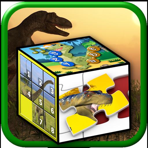 Kinder-Dinosaurier-Rätsel und Spiele - lehrt junge Kinder die Buchstaben des Alphabets zählen und Jigsaw Formen geeignet für Vorschule Kindergarten und bis (Welt Welt Reden)