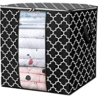 House of Quirk Storage Bags Large Blanket Clothes Organization and Storage Containers for Comforters,Bedding, Foldable…
