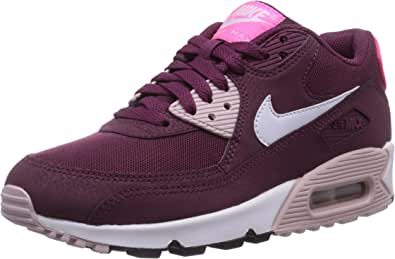 Nike Air Max 90 Essential, Baskets Basses Femme, Rouge