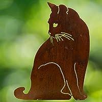 Chirpy Project Decorazioni Giardino Sagoma Gatto di Profilo in Acciaio Corten