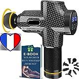 🇫🇷 Pack Pistolet de Massage Musculaire Anti-Courbatures | Masseur Professionnel pour Soulager vos Douleurs | Appareil de De