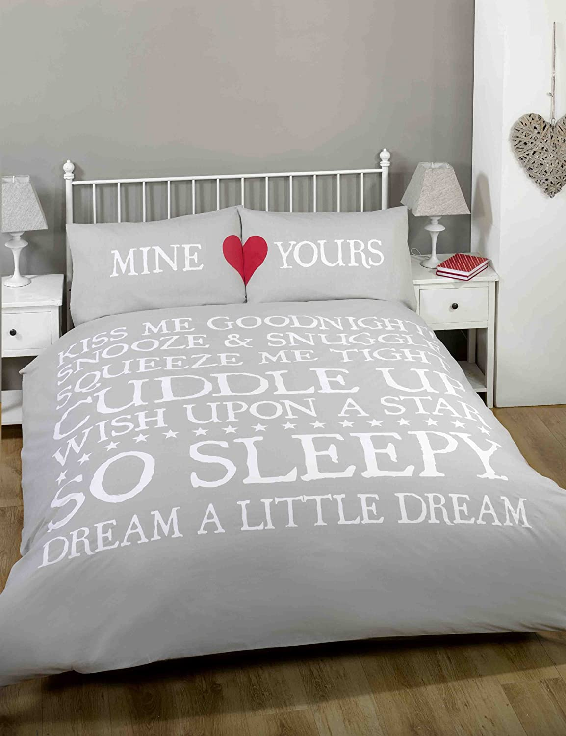 made with love mine and yours heart love duvet cover quilt bedding  - made with love mine and yours heart love duvet cover quilt bedding setbluewhitered double amazoncouk kitchen  home