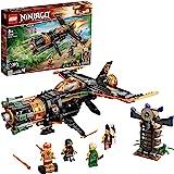 LEGO 71736 Ninjago LeJetMulti-Missiles Jouet d'avion Boulder Blaster avec Prison et Figurine de Ninja Kai Or à Collectionne