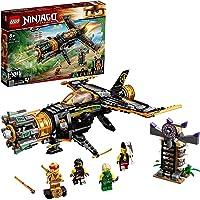 LEGO 71736 Ninjago Le Jet Multi-Missiles Jouet d'avion Boulder Blaster avec Prison et Figurine de Ninja Kai Or à…