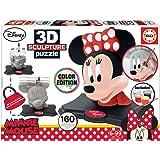 Educa-Educa-3D Educa-3D Sculpture Puzzle Disney Minnie. Assembler et Peindre. Peinture Incluse. +6 Ans. Ref, 17930, Multicolo