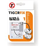 Tiger 398730046 Fix Type 1, Metaal, Chroom, 4 x 3,5 x 0,6 Cm