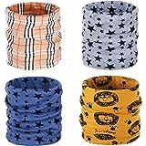 ANSUG 4 paquetes de calentador de cuello de algodón para niños, Ring Infinity Loop Pañuelo para el cuello Snood Bufanda Sombr