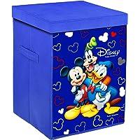 Kuber Industries Disney Team Mickey Print Non Woven Fabric Foldable Laundry Basket, Toy Storage Basket, Cloth Storage…