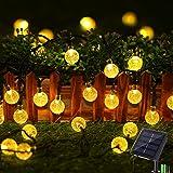 Geemoo Lichtsnoeren voor buiten, 9M 60 LED Solar Lichtsnoer Buiten, 8 modi, IP65 waterdicht lichtketting buiten, Decoratieve